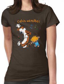 Calvin & Hobbes Dance Womens Fitted T-Shirt