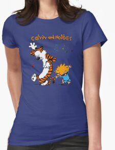 Calvin & Hobbes Dance Womens Fitted T-Shirt