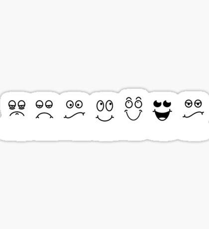 Monday, Tuesday, Wednesday, Thursday, Friday, Saturday, Sunday Moods (Faces/Emotions) Sticker