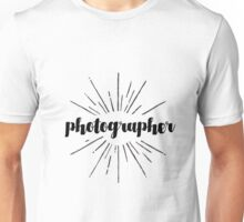 Photographer Starburst Design Unisex T-Shirt