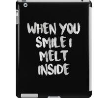 When You Smile I Melt Inside (Black) iPad Case/Skin