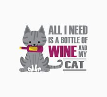 Wine and Cats Unisex T-Shirt