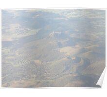 Puy de Dôme, from plane Poster