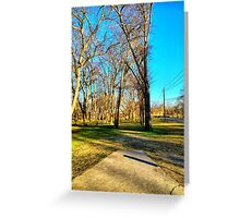Roadside Pathway Through the Trees Greeting Card