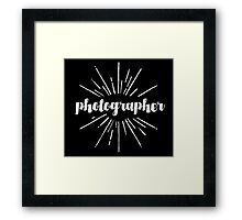 Photographer White Graphic Framed Print
