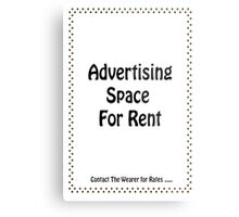 Advertisment Space for Rent - White Metal Print