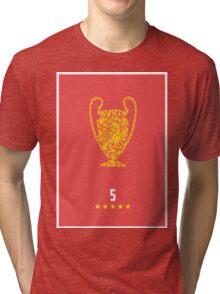 Liverpool FC FIve Times Tri-blend T-Shirt