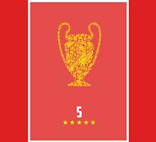 Liverpool FC FIve Times Unisex T-Shirt