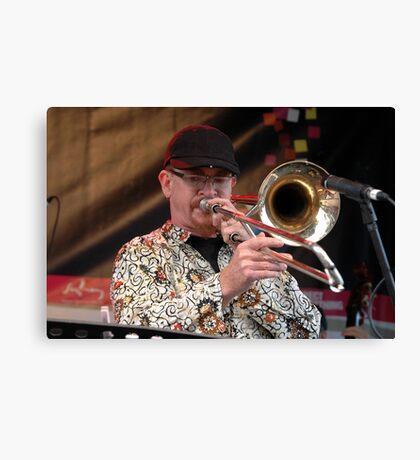 Jazz & Blues-the catholics-trombonist,Australia 2010 Canvas Print