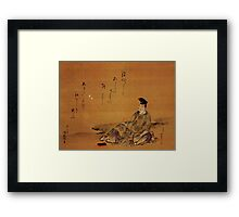 'The Poet' by Katsushika Hokusai (Reproduction) Framed Print
