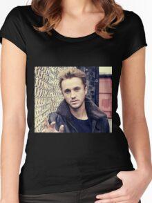 tom felton Women's Fitted Scoop T-Shirt