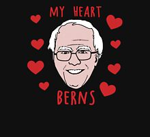 My Heart Berns for Bernie Sanders Womens Fitted T-Shirt