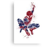 Spider-Man Splatter Art Color Canvas Print