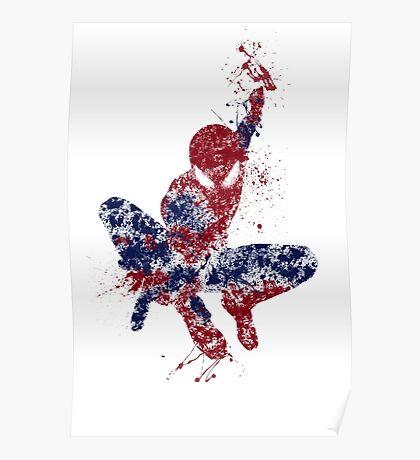 Spider-Man Splatter Art Color Poster