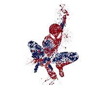 Spider-Man Splatter Art Color Photographic Print