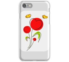 Flower Hearts Drawing iPhone Case/Skin