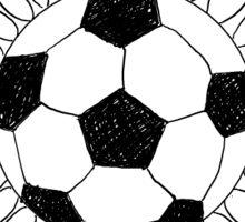 Soccer Ball Flower Sticker