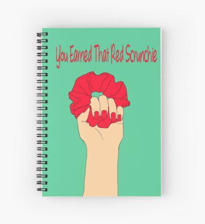 Heathers Red Scrunchie Spiral Notebook