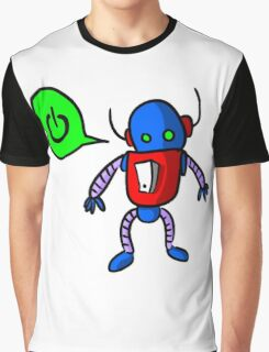 Kids Cartoon Robot Drawing Graphic T-Shirt