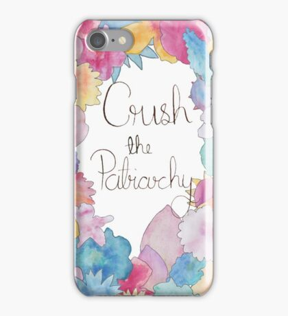 Crush The Patriarchy (2) iPhone Case/Skin