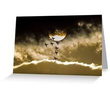 Red Arrows - 7 of 9 Greeting Card
