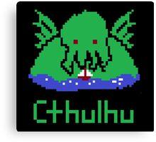 Cthulhu Pixel Canvas Print