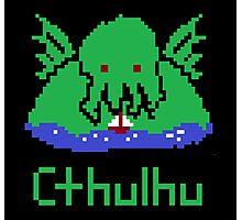 Cthulhu Pixel Photographic Print