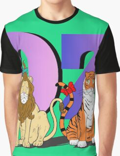 """""""The Cowardly Lion and The Hungry Tiger Of Oz"""" Graphic T-Shirt"""