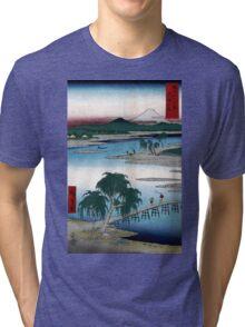 Utagawa Hiroshige The Tama River Tri-blend T-Shirt