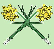Daffodils Crossed by Richard Fay