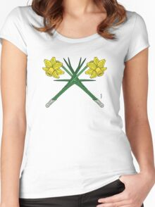 Daffodils Crossed Women's Fitted Scoop T-Shirt