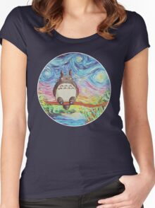 Totoro 3 Women's Fitted Scoop T-Shirt