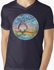 Totoro 3 Mens V-Neck T-Shirt