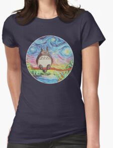 Totoro 3 Womens Fitted T-Shirt