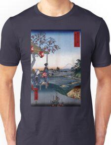 Utagawa Hiroshige The Teahouse with the View of Mt. Fuji Unisex T-Shirt