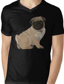 Pug puppy cuteness Mens V-Neck T-Shirt