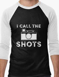 I call the shots White Graphic Men's Baseball ¾ T-Shirt