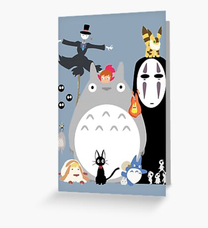 Studio Ghibli Gang Greeting Card