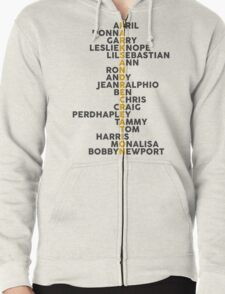 Parks and Recreation <3 Zipped Hoodie