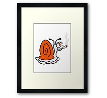 pothead weed smoking cigarette joint cannabis weed hemp smoken snail drug Framed Print