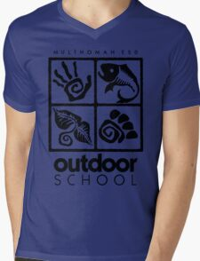Outdoor School Logo (scb) Mens V-Neck T-Shirt