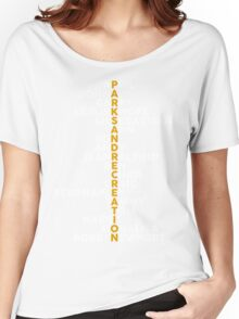 Parks and Recreation <3 (white font) Women's Relaxed Fit T-Shirt