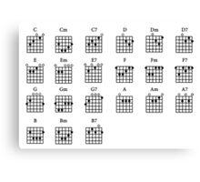 Basic Guitar Chords  Canvas Print