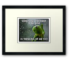 Sometimes I wonder Framed Print