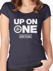 Up On One Performance Dirt Motorcycles Women's Fitted Scoop T-Shirt