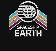 Vintage Spaceship Earth EPCOT Center Distressed Logo Retro Style T-Shirt