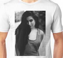 The girl in b&w Unisex T-Shirt
