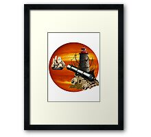 Defending The Treasure Trove Framed Print