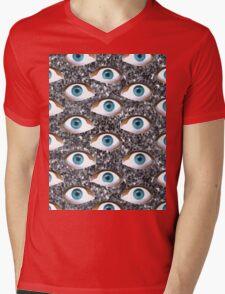 silver glitter eyes Mens V-Neck T-Shirt