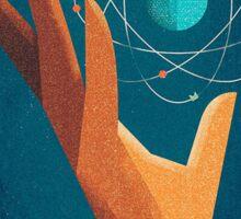 The hand of scientist Sticker